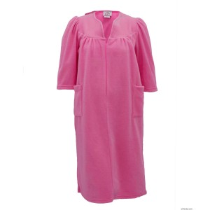 Womens Warm Open Back Adaptive Fleece Robe - House Coat