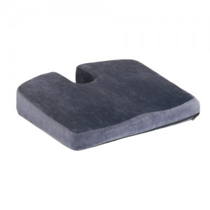 "Cushion Memory Foam Coccyx 2"" Velour Black"