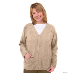 Womens Adaptive Clothing - Acrylic Cardigan With Pockets