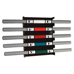 Weighted Bar Wall Rack 14 W x 3 D x 17 H
