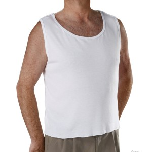 Mens Adaptive Clothing - Snap Open Back Undervest