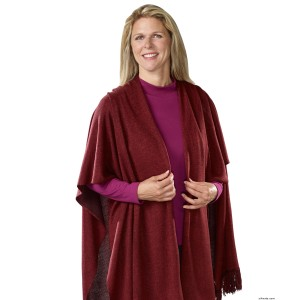 Warm Cozy Shawl Cape For Women - Open Poncho
