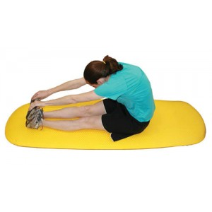 Cushioned Exercise Mat Black 26 x 72 x 0.6