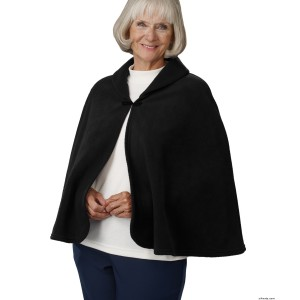 Womens Warm Bed Jacket Cape Or Bed Fleece Shawl