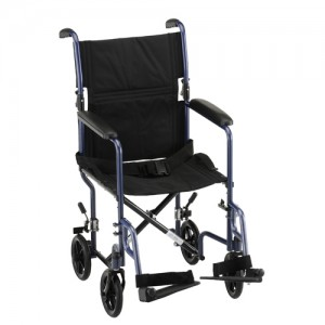 "Transport Chair 19"" Steel Blue"