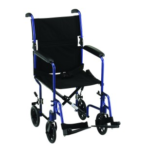 "Transport Chair 17"" Lightweight Blue"