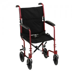 "Transport Chair 19"" Lightweight Red"