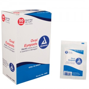 Sterile Oval Eyepad Sterile 2 5/8 x 1 5/8 50 Pouches/ Box