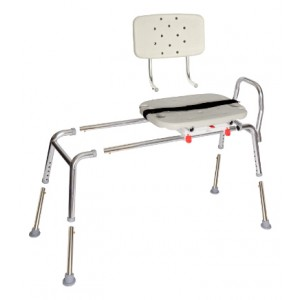 Snap-N-Save Sliding Transfer Bench Swivel Seat/Back Regular
