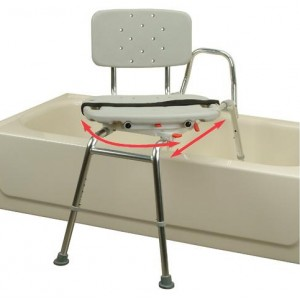 Snap-N-Save Sliding Transfer Bench Swiver Seat/Back Long
