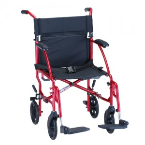"Transport Chair 19"" Ultra Lightweight Red"