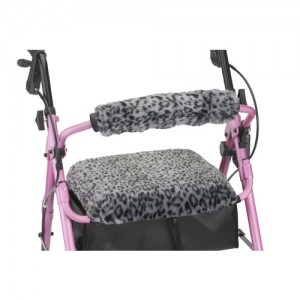 Seat & Back Cover For Rolling Walker Snow Leopard