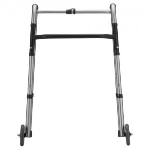 "Folding Walker With 5"" Wheels 1 Button Standard"
