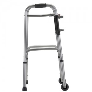 "Folding Walker With 3"" Wheels 2 Button Standard"