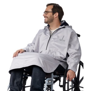 Waterproof Wheelchair Rain Cape Poncho For Disabled Women & Men