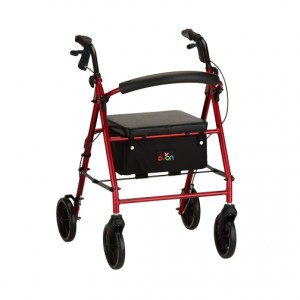 Vibe 8 Rolling Walker Red