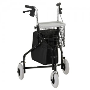 Traveler 3 Wheel Roll Walker Black