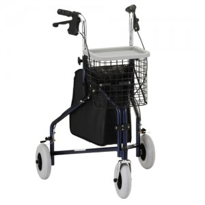 Traveler 3 Wheel Roll Walker Blue