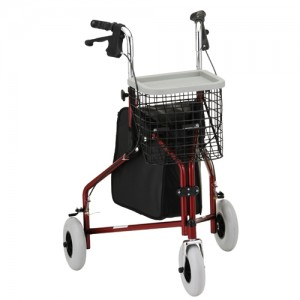 Traveler 3 Wheel Roll Walker Red