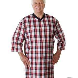 Hospital Gowns - Mens Adaptive Cotton Hospital Patient Nightgowns - Open Back - Snap Back