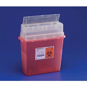 Sharps-A-Gator- Wall Mounted Unit- 5 Quart