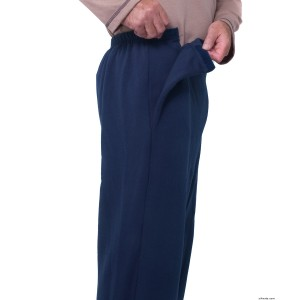 Arthritis Mens Fleece VELCRO Pants With VELCRO Strap Brand Closures