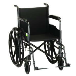 "Wheelchair Steel 20"" Fixed Full Length Arms Swing Away Footrests"