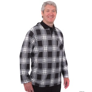 Adaptive Polo Jersey For Men - Nursing Home Clothing - Wrap Back