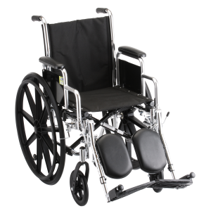 "Wheelchair Steel 16"" Detachable Arms Elevating Leg Rests"