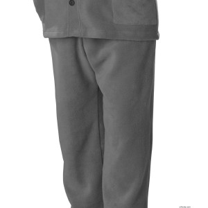 Mens VELCRO Polar Fleece Pants With VELCRO Brand Straps - Best Arthritis Pants