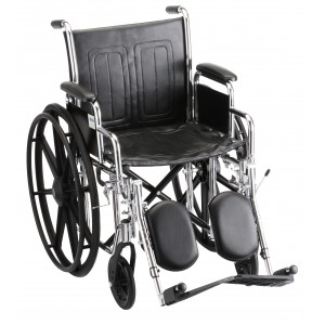 "Wheelchair Steel 18"" Detachable Arms Elevating Leg Rest"