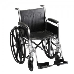 "Wheelchair Steel 18"" With Detachable Full Arms"