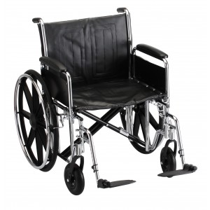 "Wheelchair Steel 22"" Detachable Folding Arms Elevating Leg Rests"
