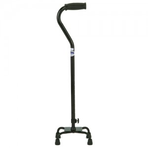 Quad Cane Small Base Black