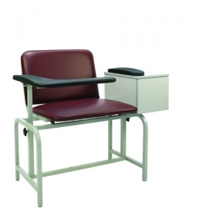 Bariatric X-Wide Padded Blood Drawing Chair With Cabinet