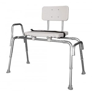 Snap-N-Save Sliding Transfer Bench With Back Silver Regular
