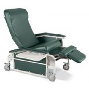 Drop-Arm Care Cliner With Steel Casters