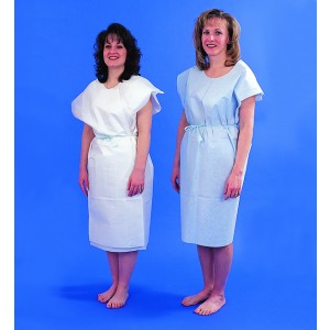 Paper Patient Exam Gowns- White Box/50