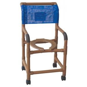 Shower Chair Standard PVC Wood-Tone