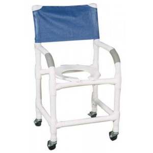 Shower Chair PVC With Soft Seat & Folding Footrest