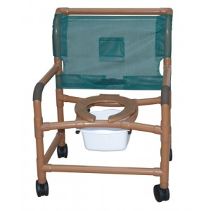 Shower Chair X-Wide PVC Deluxe Wood-Tone
