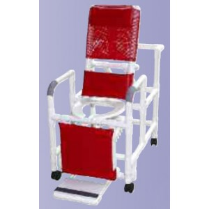 Reclining Shower Chair With Dlx Elongated Commode Seat PVC