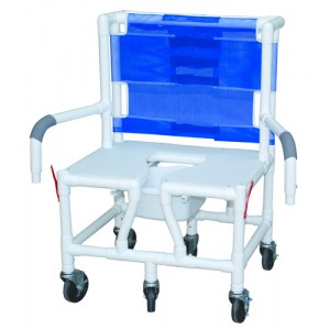 Shower/Commode Chair Baria PVC With Seat & Dual Drop-Arms