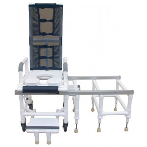 Tilt-N-Space Shower Chair PVC & Transfer Bench Combination Silver