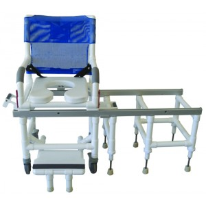 Dual Commode Shower/Transfer PVC Chair Deluxe With OneStep Lock