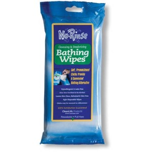No Rinse Bathing Wipes Pack/8