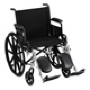"Wheelchair Lightweight 20"" Folding Arms Elevating Leg Rests"
