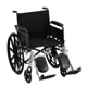 "Wheelchair Lightweight 20"" Flip Up Arms Elevating Leg Rest"