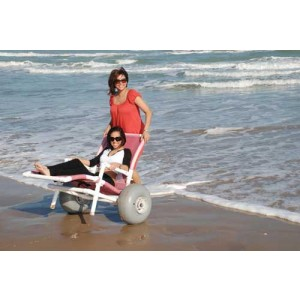 Wheelchair All Terrain PVC With High Flotation Wheels