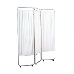 Three Panel Privacy Screen With Wheels